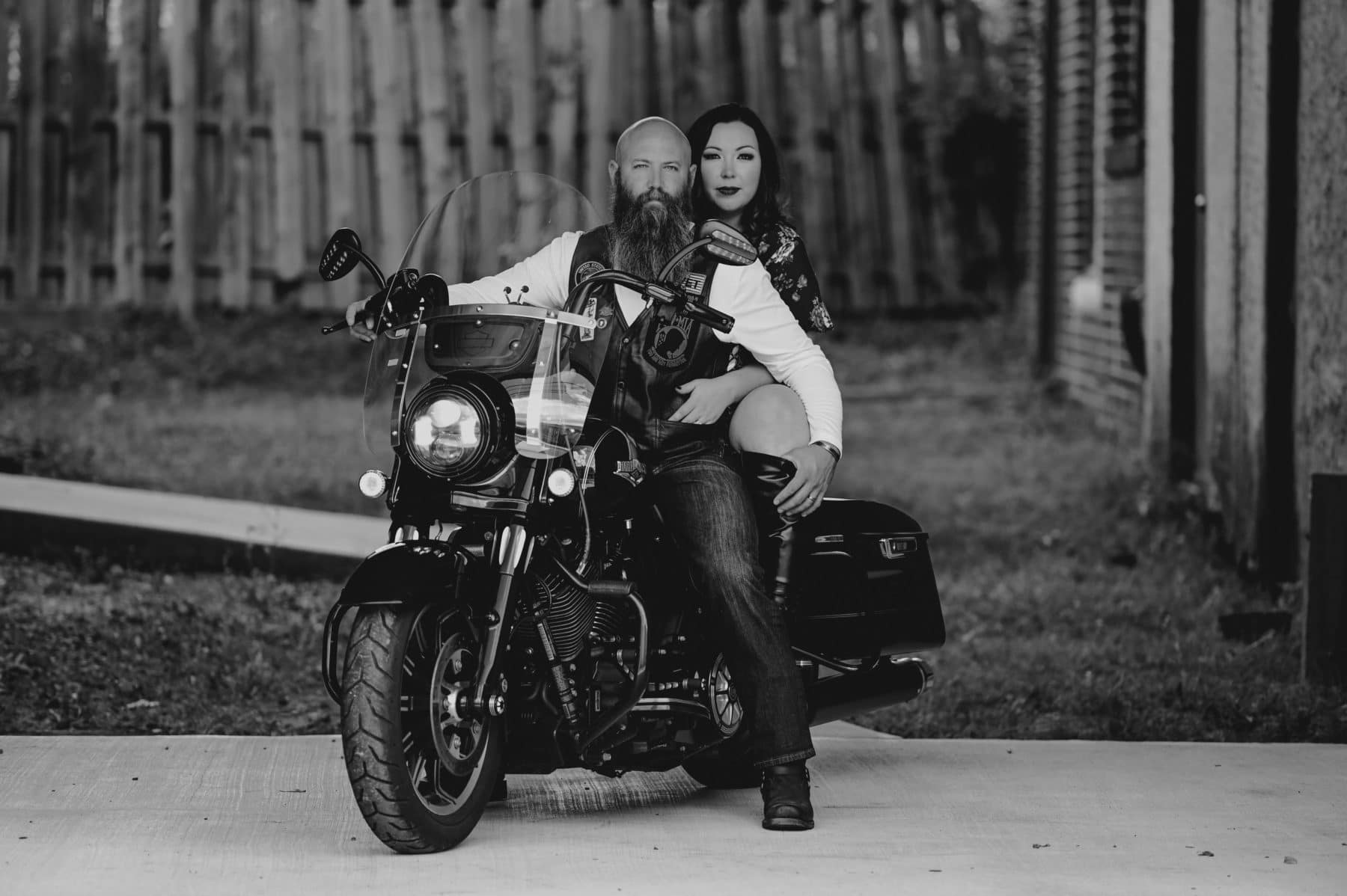Couples Boudoir - Motorcycle