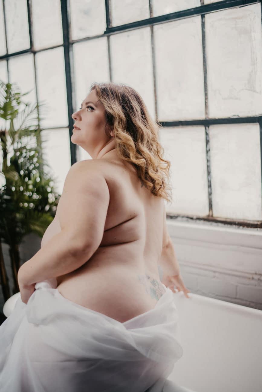 Nude Bathtub Painting Boudoir Photograph