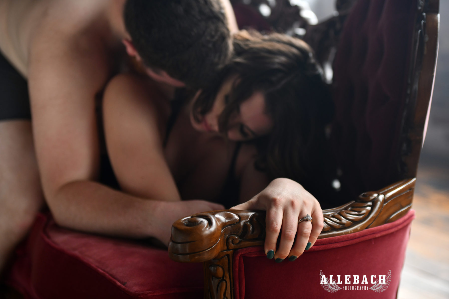 Couples Boudoir Engagement Session